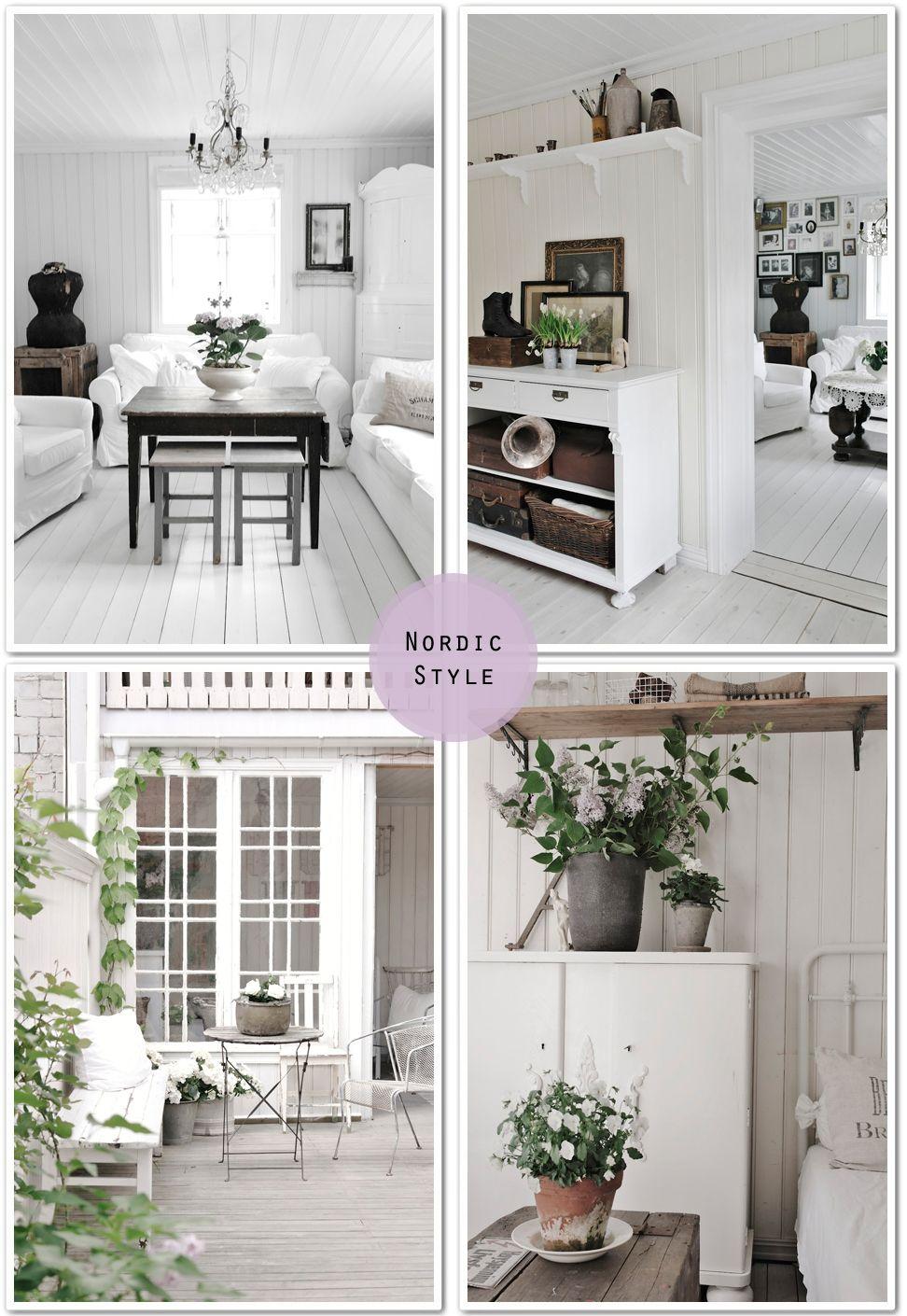 Stile Nordico Interni shabby chic, Interni di casa di