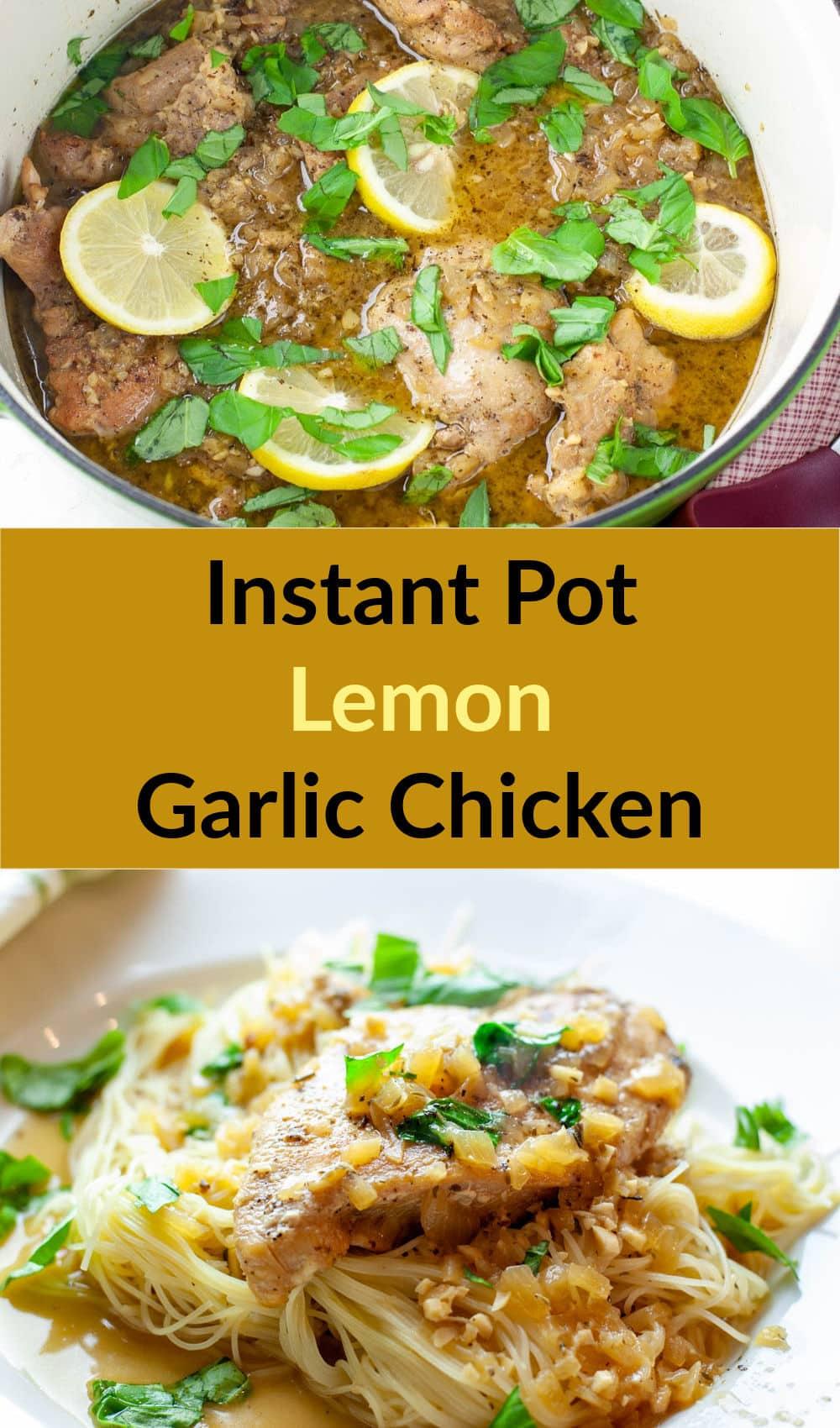 Instant Pot Lemon Garlic Chicken   Recipe in 2020   Lemon ...