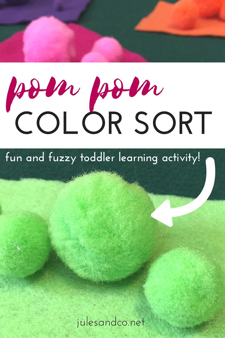 Try this fun and fuzzy toddler game! | Learning colors, Motor skills ...