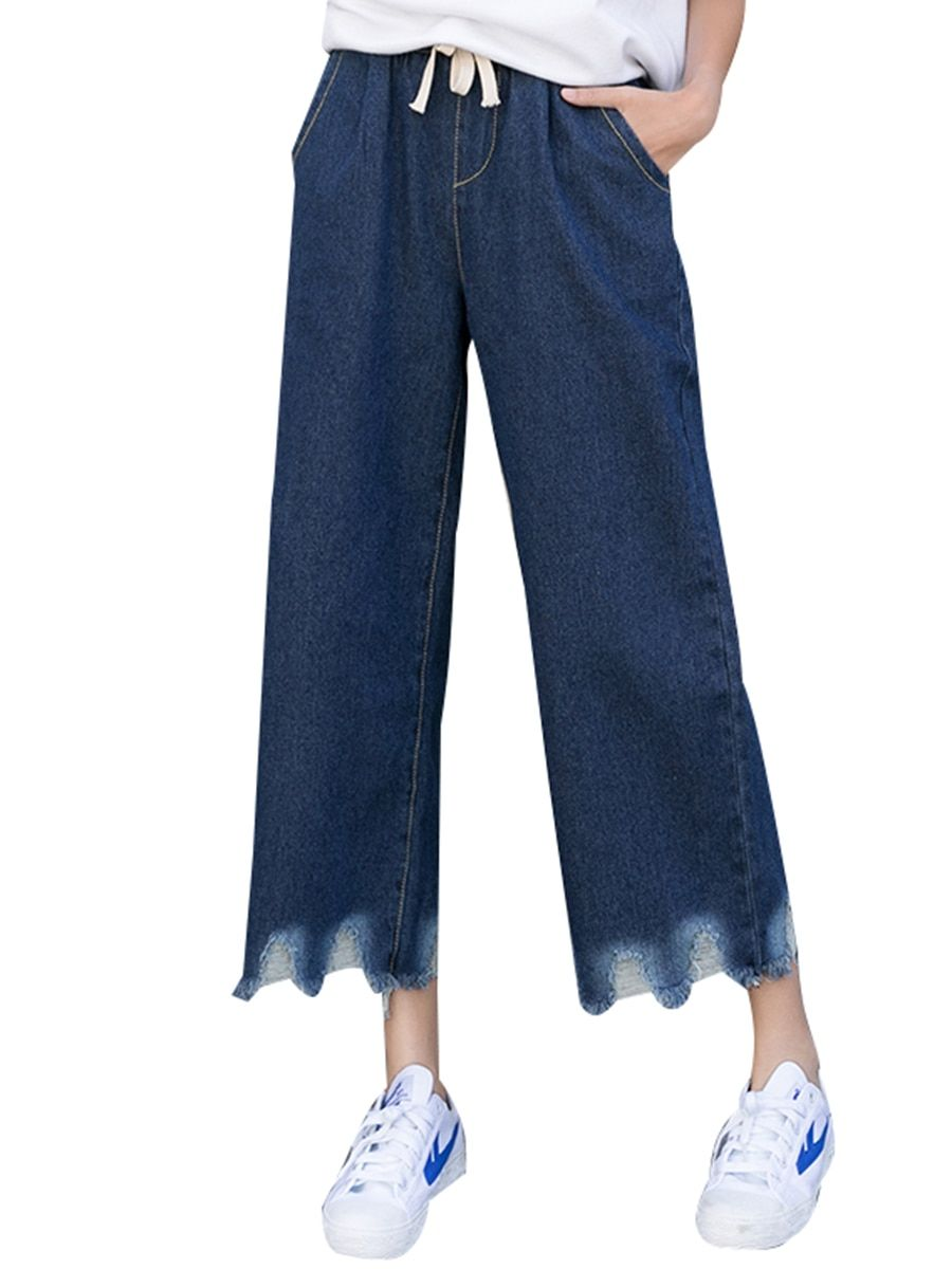 fddfd62870c Buy Women s Jeans Tasel Pocket Denim Pants   Jeans - at Jolly Chic ...