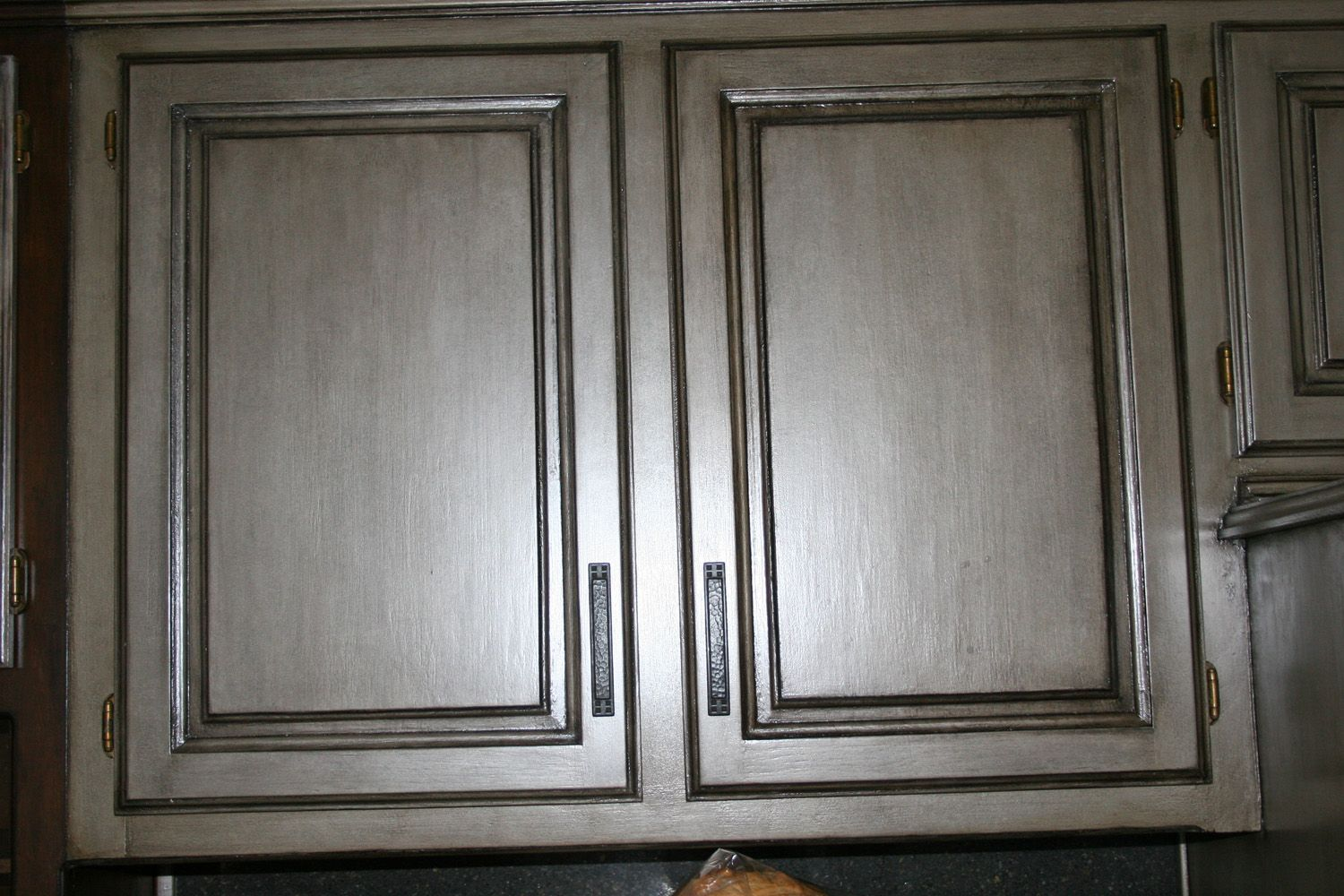 how to paint kitchen cabinets grey bar chairs gray glazed painted this finish is over