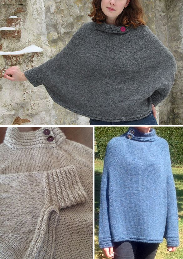 Free Knitting Pattern for Muscari Poncho | Knitting | Pinterest ...