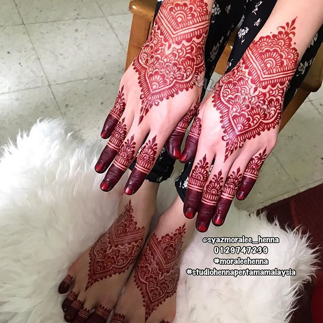 Full Set Henna Pengantin Inai Lukis Full