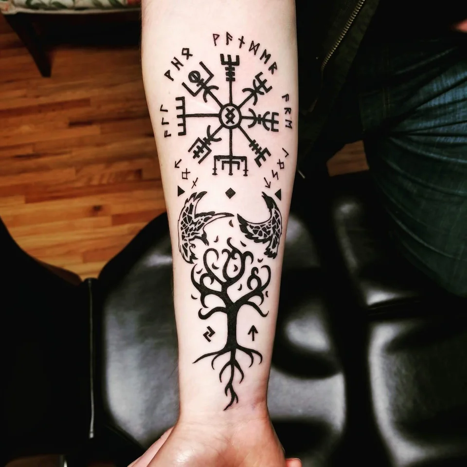 Nordic Design, Kinga at Wonderland Tattoo, North Carolina