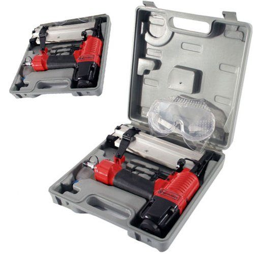 BARGAINS-GALORE 2 IN 1 HEAVY DUTY STAPLER STAPLE NAILER NAIL GUN KIT IN STORAGE CASE ideal for installing: door frames window frames carpet tack strips decks flooring etc. double duty handles staples up to 1 in ch and braids up to 2 inch single sequential (Barcode EAN = 5038673945798) http://www.comparestoreprices.co.uk/december-2016-6/bargains-galore-2-in-1-heavy-duty-stapler-staple-nailer-nail-gun-kit-in-storage-case.asp