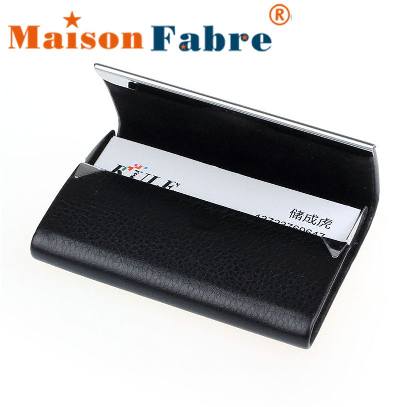 Brand New Leather Business Credit Card Name Id Card Holder Case ...