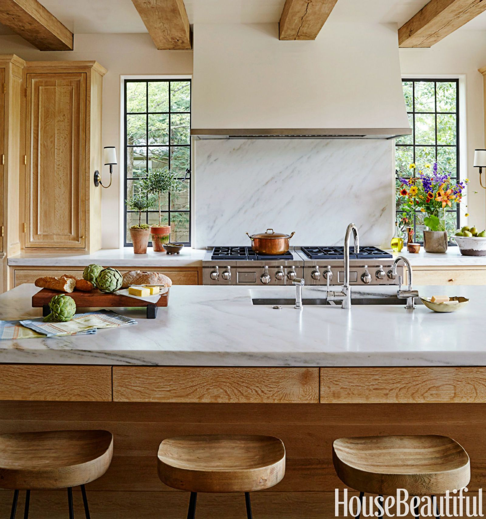 A sunny tudor gets a kitchen revamp that 39 s just modern House beautiful com kitchens