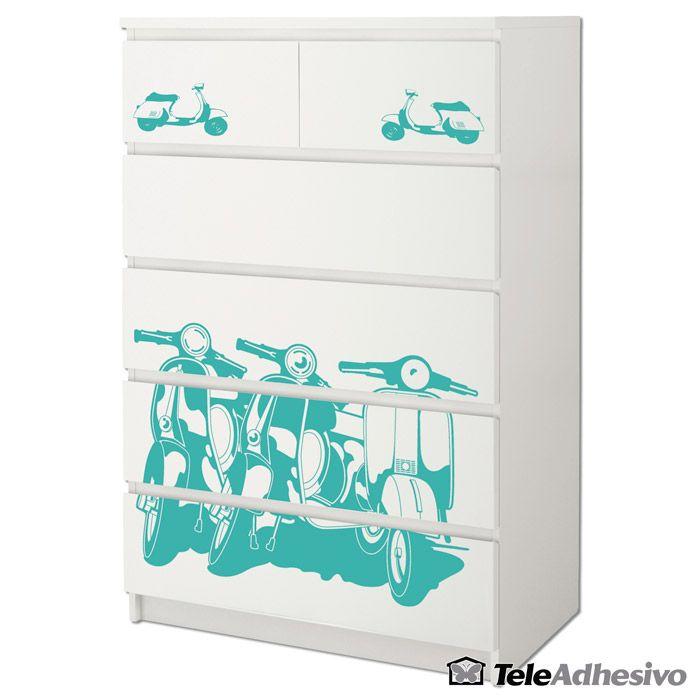 Cómoda #Malm de #Ikea decorada con #vinilo decorativo #decoración ...