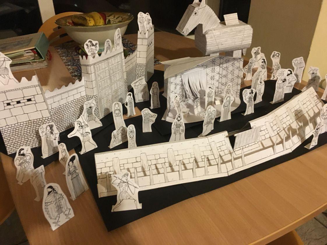 Greek Myth Comix Trojan War Paper Dolls Playset