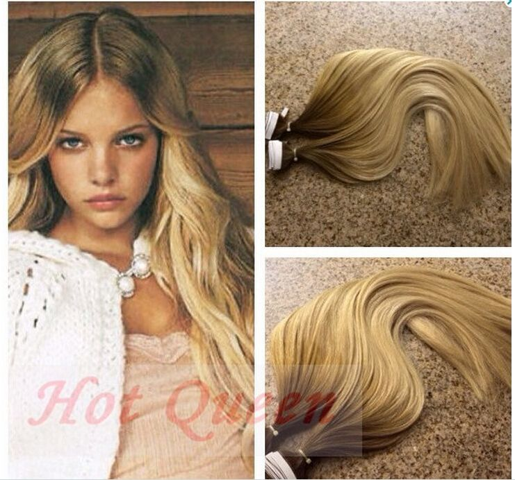 Hot Queen Russian Tape In Human Hair Ombre Hair Extension Seamless