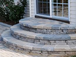 Steps Made With Retaining Wall Blocks
