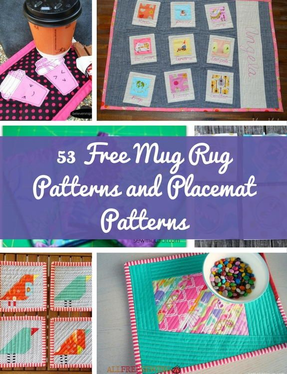 53 Free Mug Rug Patterns And Placemat Allfreesewing Com