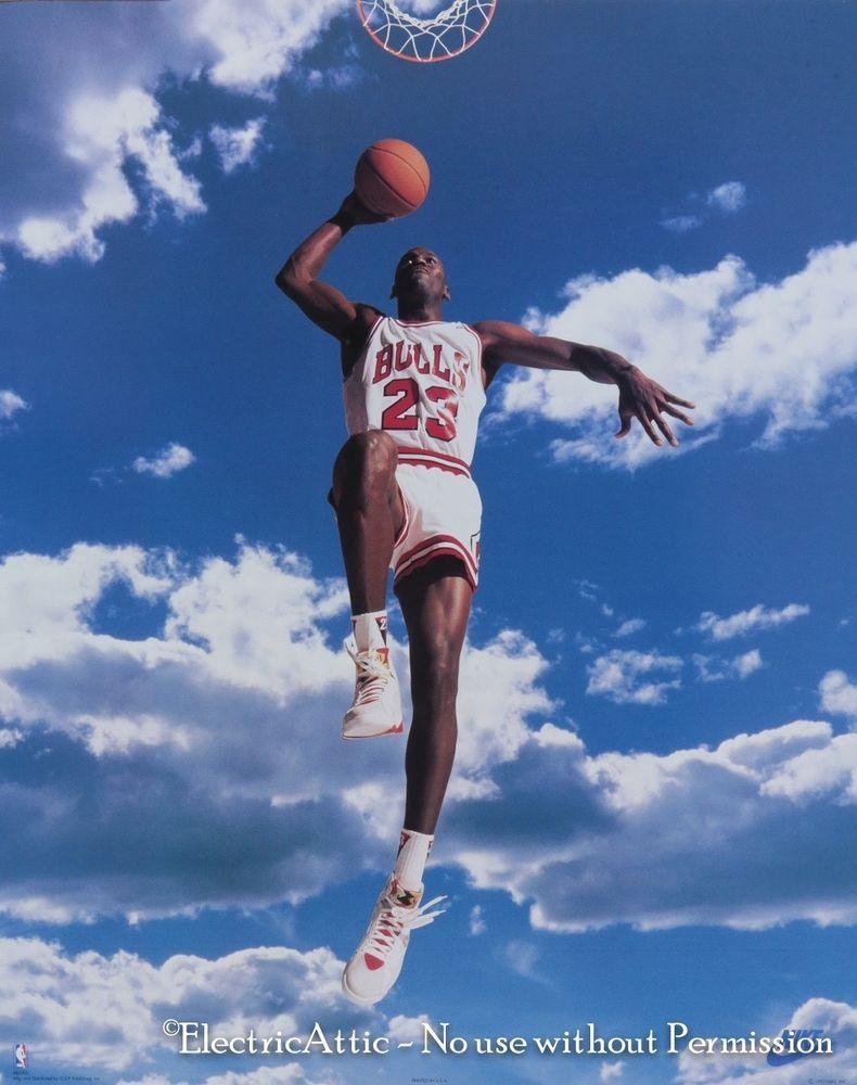 Vintage New Old Stock 16 X 20 Nike Michael Jordan In The Sky Nba Poster Nike Poster Michael Jordan Nike Michael Jordan