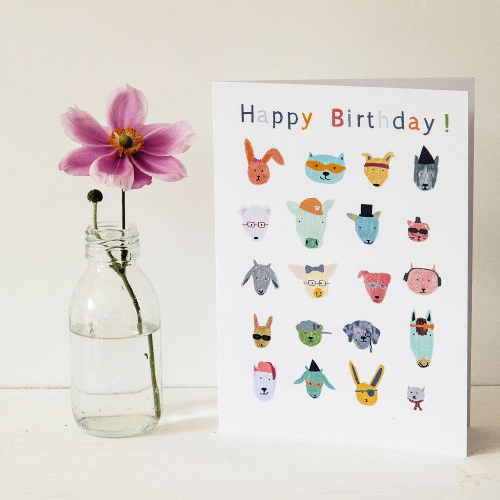 Abc Animal Friends Greeting Card 45 This Alphabet Greeting