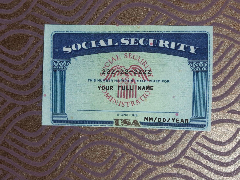 Social Security Card 01 Social Security Card Card Template Templates