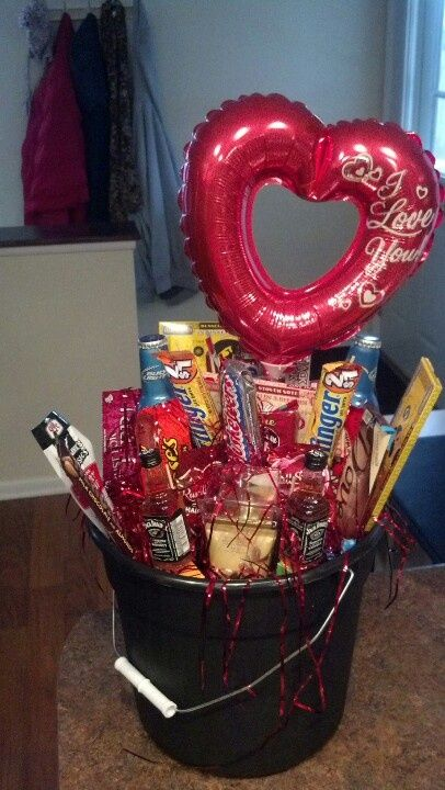 Mens Gift Basket Idea For Valentines Day Manly Valentine S Day