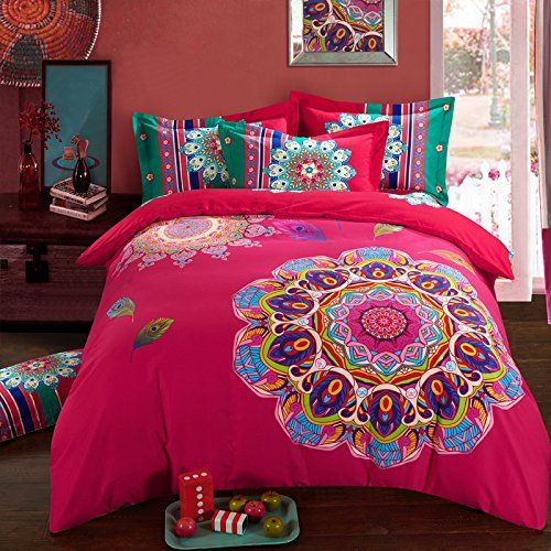 Comfortex Bedding Set Queen Boho Style Bed Sheet Sets 100 Cotton