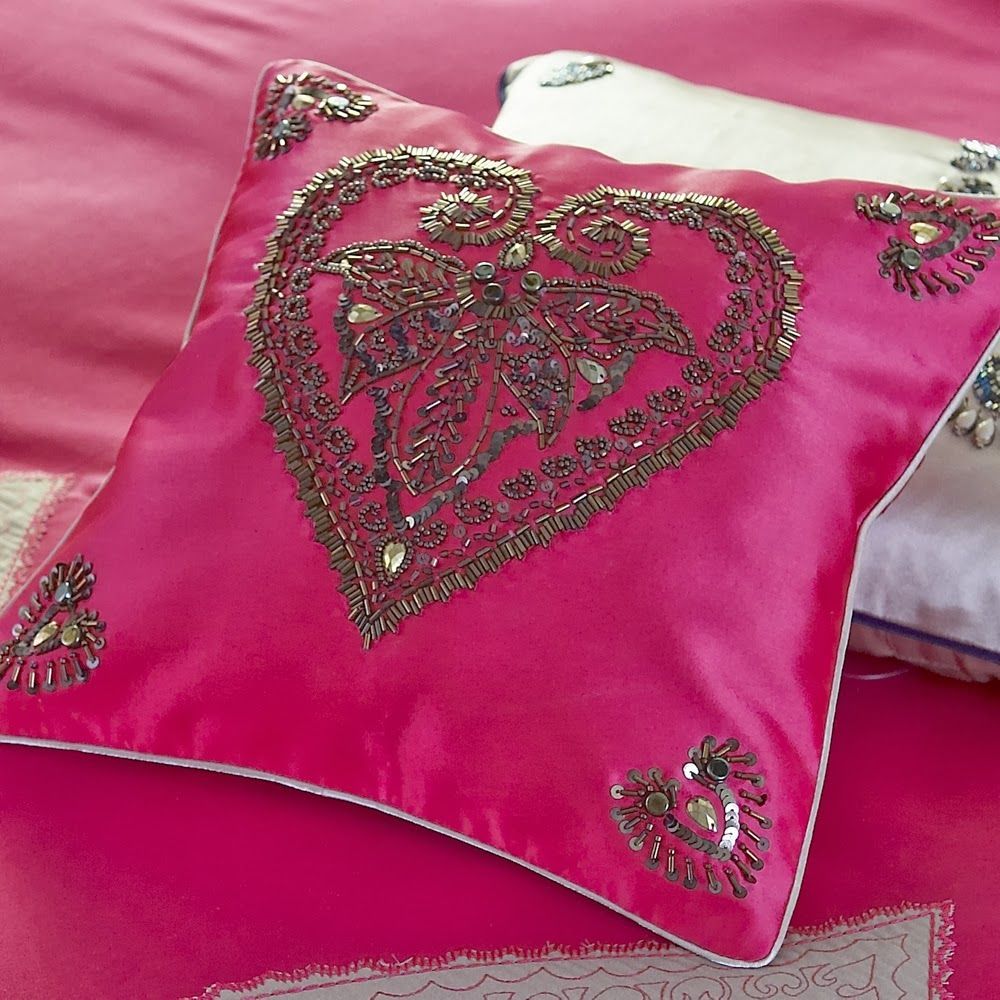 heart-love-throw-cushion-embellished-beaded-pillow-unique-fun-design ...