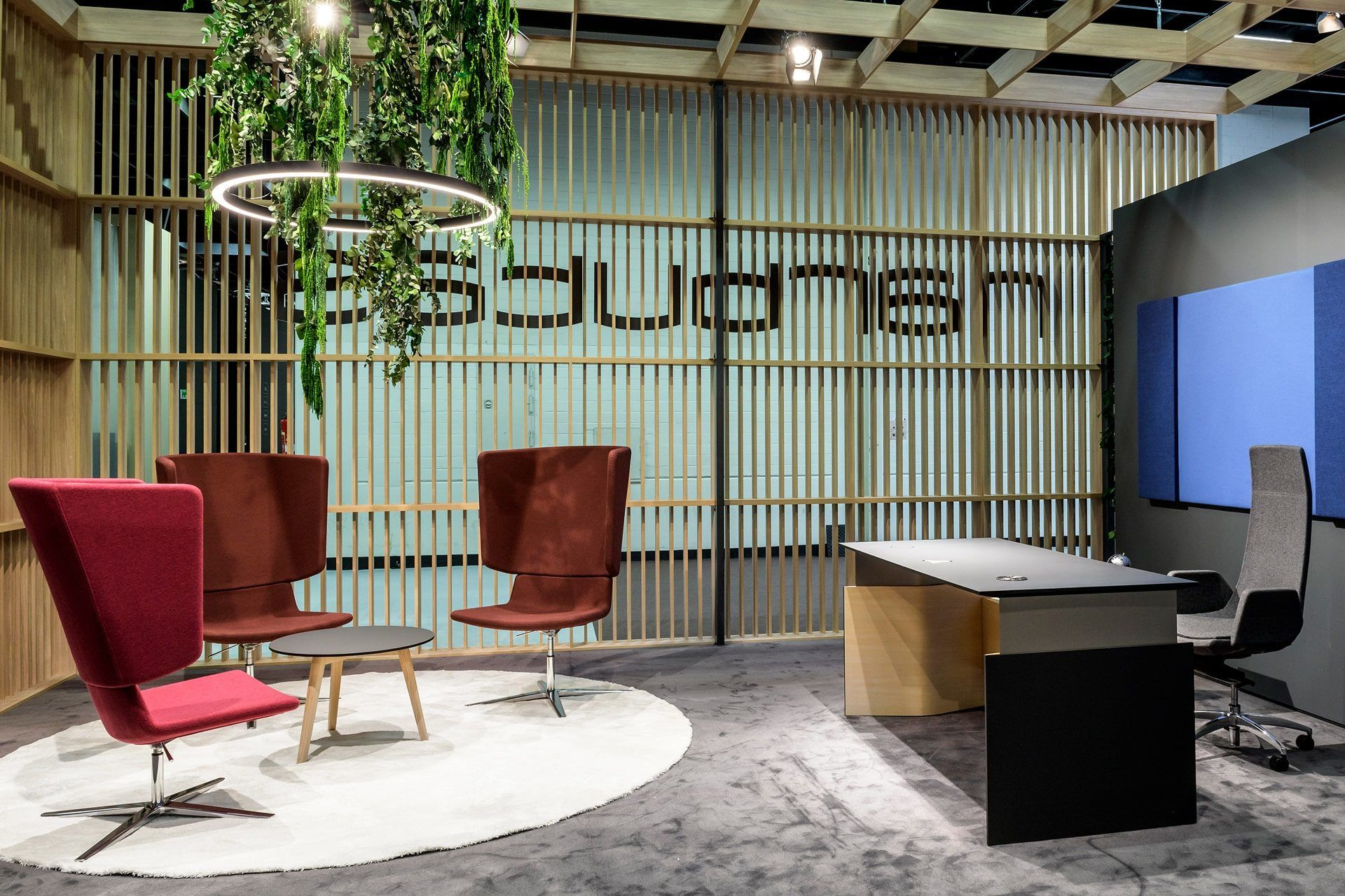 NARBUTAS furniture exhibition stand at Orgatec 2018, an