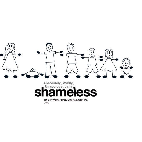 Shameless Family Stick Figure Wall Decal Fondos De Pantalla