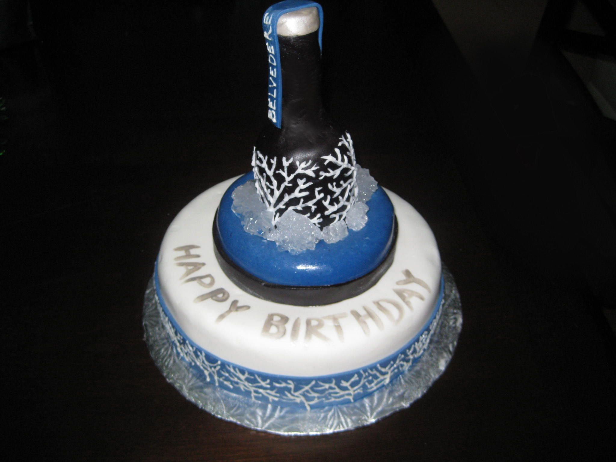 Awe Inspiring Belvedere Vodka Bottle Cake With Images Bottle Cake 21St Cake Funny Birthday Cards Online Alyptdamsfinfo