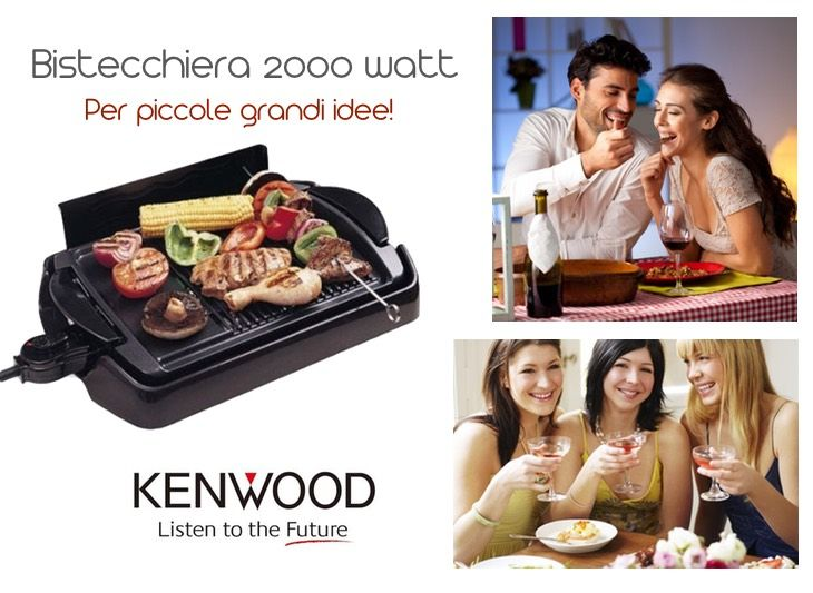 Grill dietetico KENWOOD Potenza 2000 watt:  - parti smontabili e lavabili in lavastoviglie - dimensioni da tavolo - resistenza protetta http://www.qbric.it/piccoli-elettrodomestici/cucina/bistecchiere/hg250.html #cucina #grigliata #cibosano #allagriglia