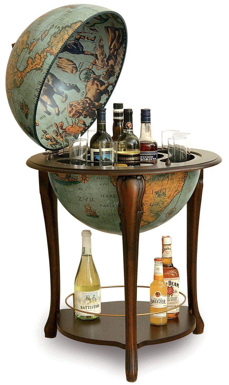 Old World Globe Bar A Cart