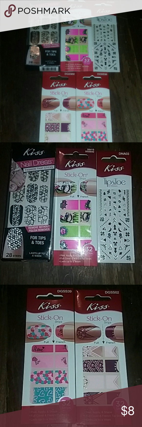 Kiss Nail Lot | Kiss nails, Nail wraps and Kiss