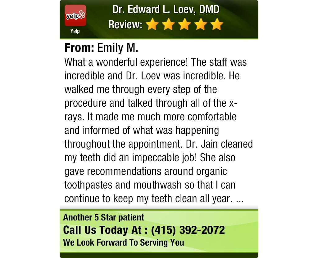 What a wonderful experience!   The staff was incredible and Dr. Loev was incredible. He...