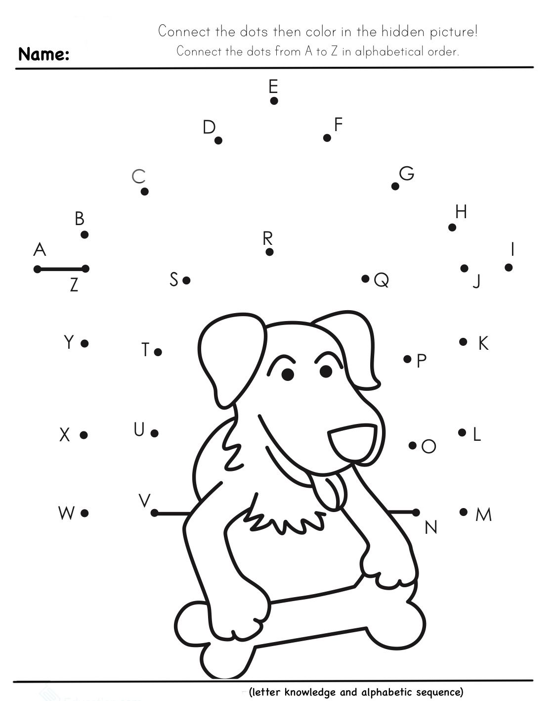 Worksheet For Kindergarten In