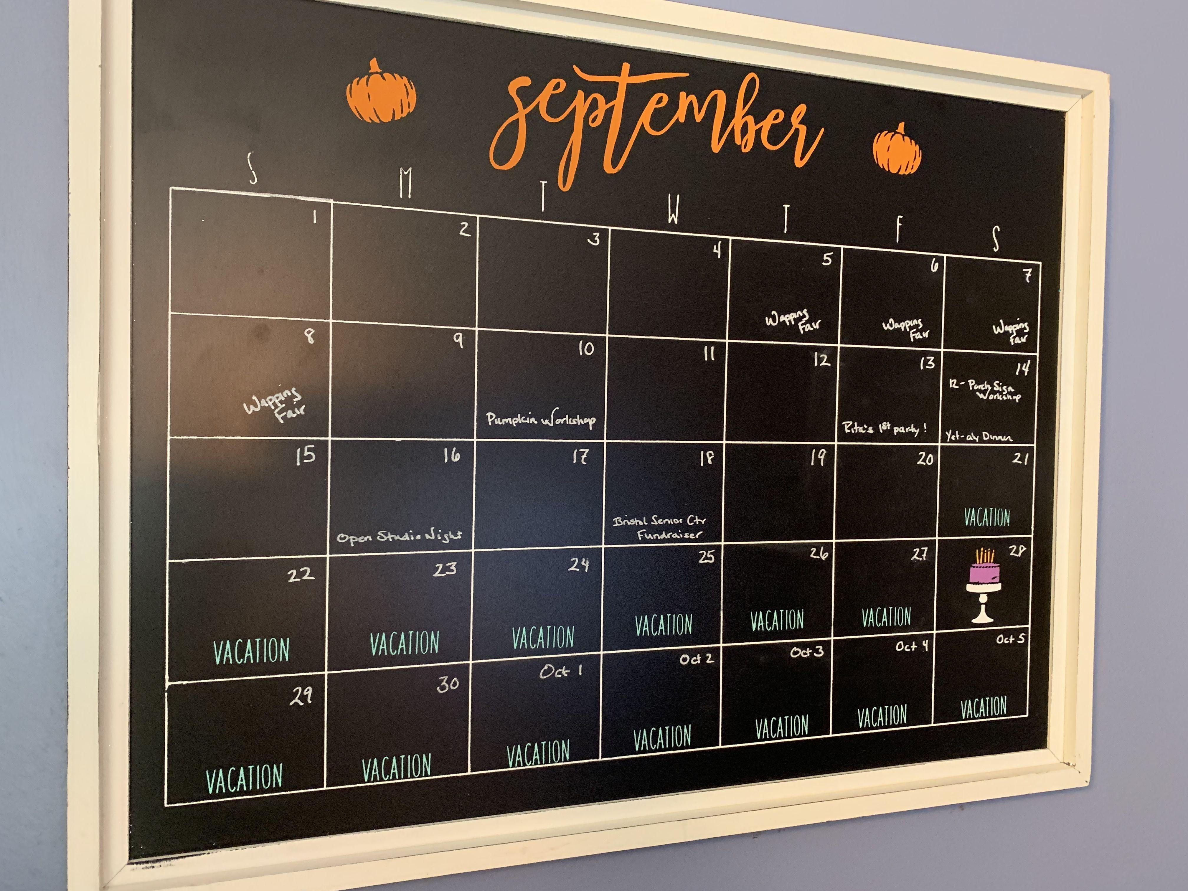 Chalkboard Calendar Template Chalkboard Calendar Calendar Template Mom Calendar