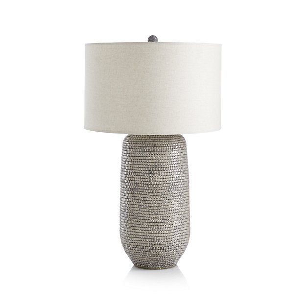 Cane Grey Table Lamp Reviews Crate And Barrel In 2020 Grey Table Lamps Table Lamp White Table Lamp