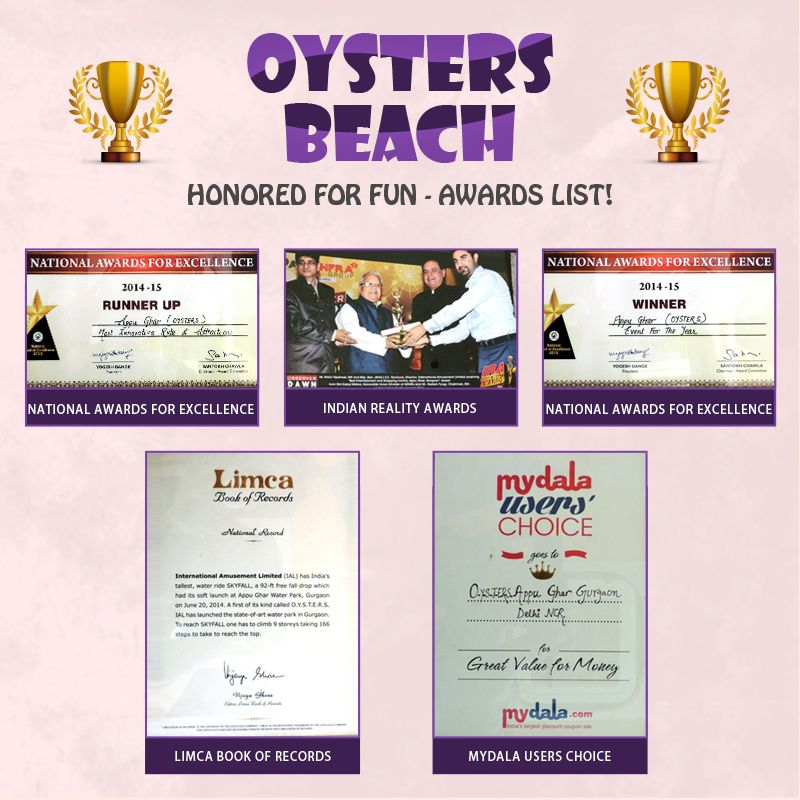 Thanks to all of you for loving us so much. Check out the #awards received by #OystersBeach till now!