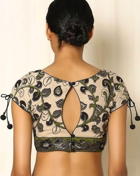 893dd07eb9592 30 Timeless Kalamkari Blouse Patterns that you will love - Wedandbeyond