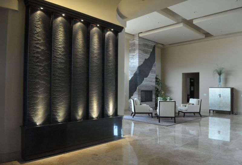 Etonnant Indoor Water Wall With Dramatic Flair 10 Rooms With An Indoor Water Feature