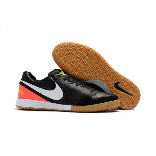 7d4ce938360 Outlet 2017 Nike TiempoX Proximo IC Scarpe da calcio nero Orange bianco