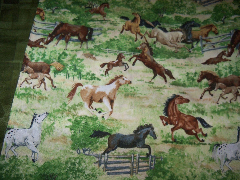 Open Range Pony Cotton Fabric, 1 Yard,Wilmington,Horses by susiesfabrics on Etsy