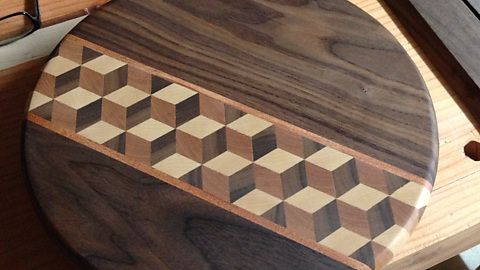 Tumbling Block Pattern Cutting Board