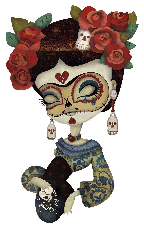 Ilustración En Proceso Aplicando Color Frida Kahlo El Día De