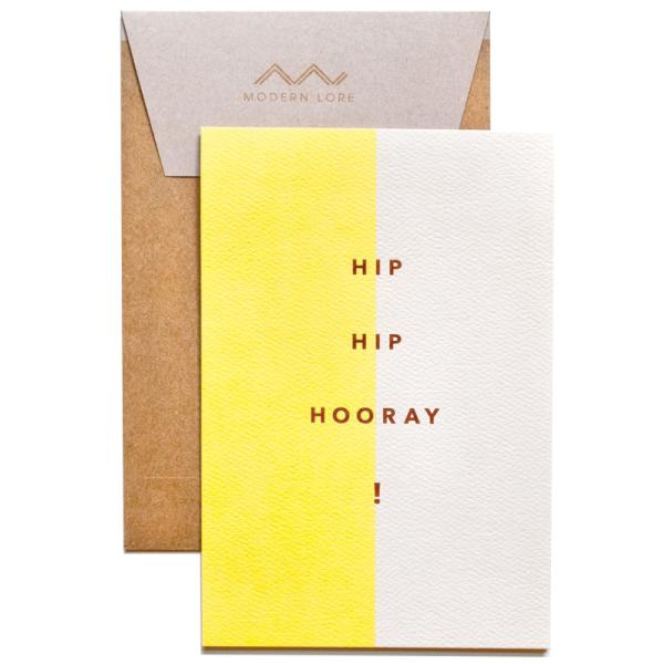 Hip Hip Hooray Greeting Card Graduation Celebration Birthday