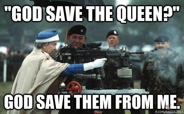 God save the queen?...Onkohan tähtäimessä Skotlannin itsenäisyyden kannattajat?
