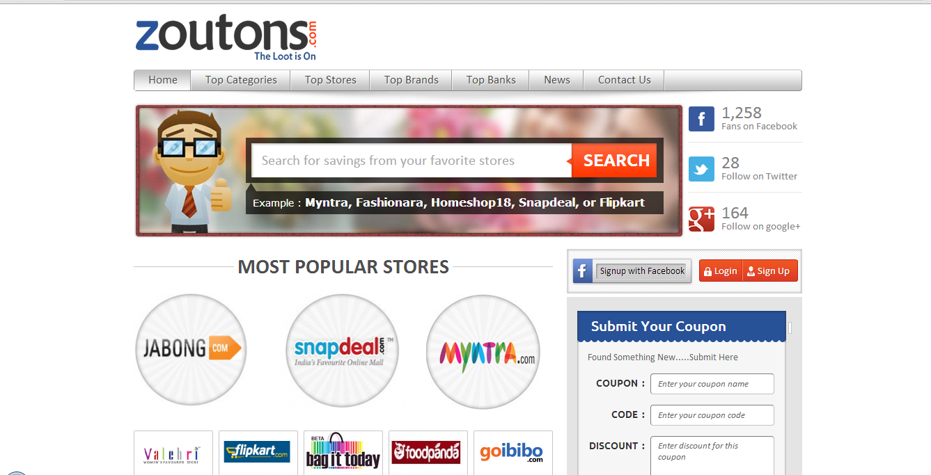Example Of A Coupon Entrancing Zoutons A Complete Online Shopping Coupon Website  Review And .