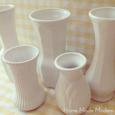 How To Turn Cheap Vases Into Milk Glass Milk Glass Glass And Modern