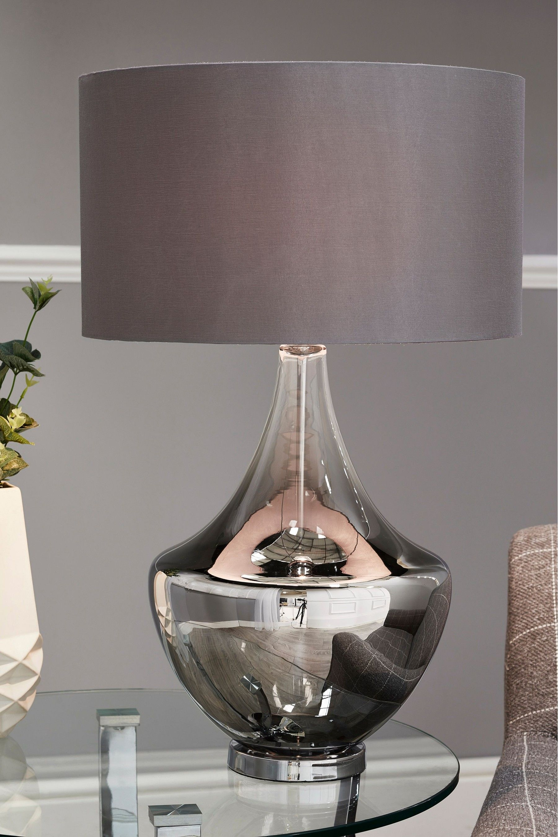Next Blake Table Lamp Grey In 2020 Grey Table Lamps Table