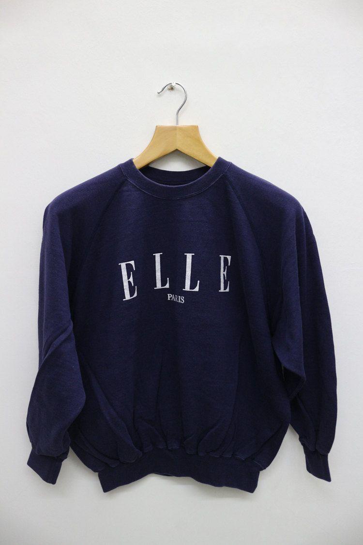 e52f727395558 Vintage ELLE Street Wear Hip Hop Swag Pop Art Pullover Sweater ...