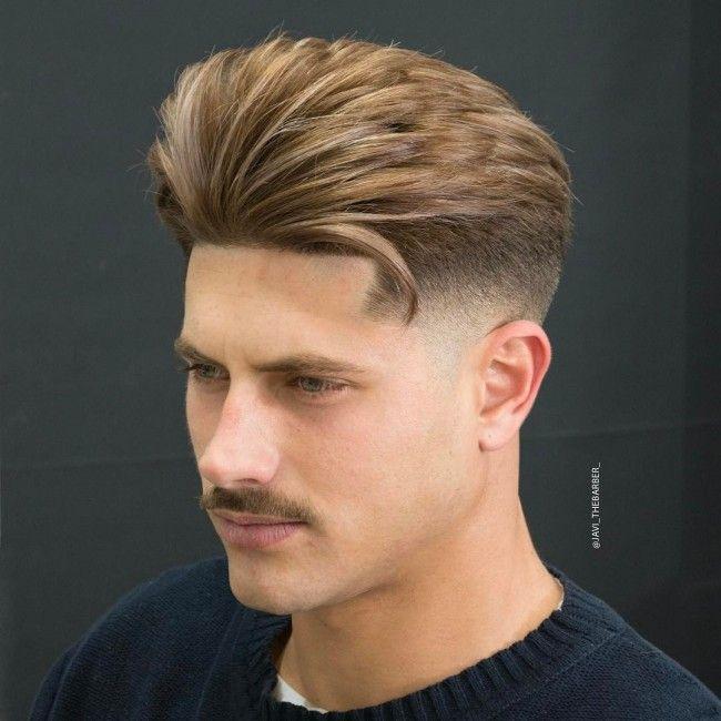 Coupe cheveux homme raie milieu