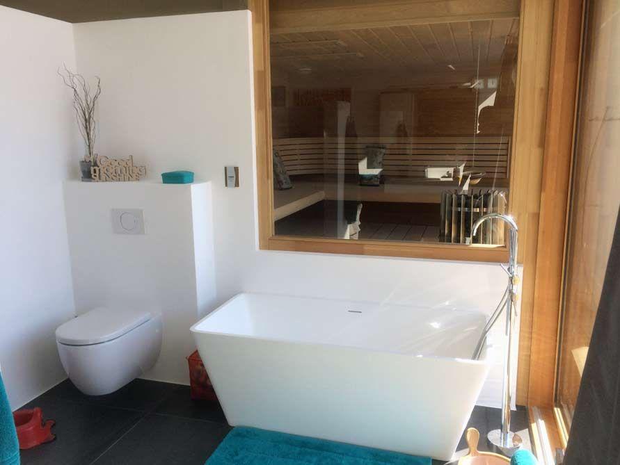Freistehende Badewanne Ancona aus Mineralguss - Weiß matt oder ...