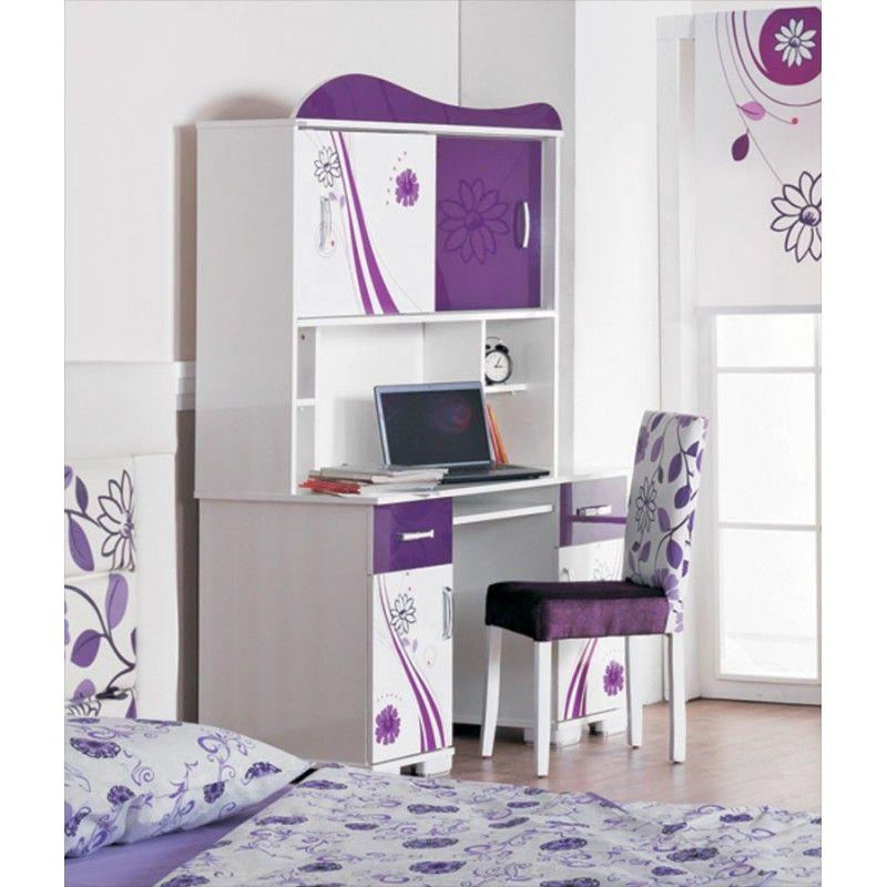 armoire bureau chambre fille | Chambre enfant complète 4 pièces ...
