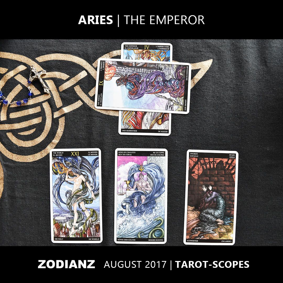 Zodianz Aries August 2017 Tarot-Scopes