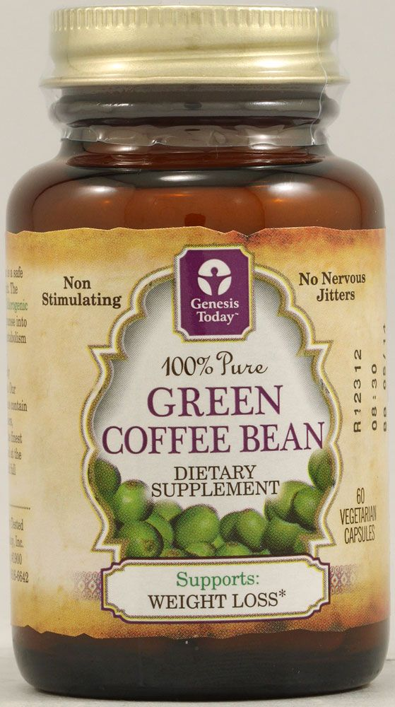 Genesis Today Pure Green Coffee Bean Extract Health Fitness